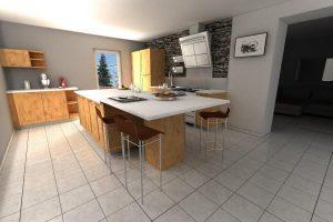 rendu 3d photo logiciel cuisine kodes3d