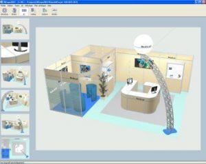 vue logiciel 3d expo stands