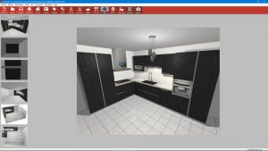 vue 3d kodes3d rapide création cuisine