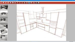 logiciel kodes 3d vue crayonné dessin cuisine