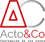 logo acto and co stands